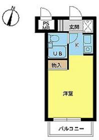 スカイコート高円寺第33階Fの間取り画像