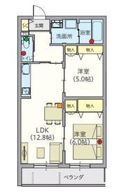 ヘーベルVillage堀ノ内3階Fの間取り画像