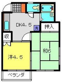 クレドールカネコ2階Fの間取り画像