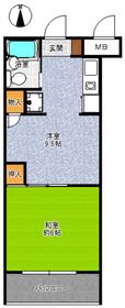 武蔵浦和宝マンション4階Fの間取り画像