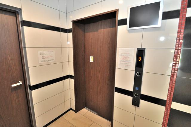 セレニテオズ北巽 エレベーター付き。これで重たい荷物があっても安心ですね。