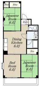 プリンス・ヴィラ・ウィング3階Fの間取り画像