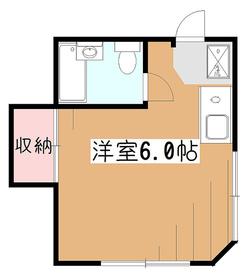メゾン・ド・ヴェール1階Fの間取り画像