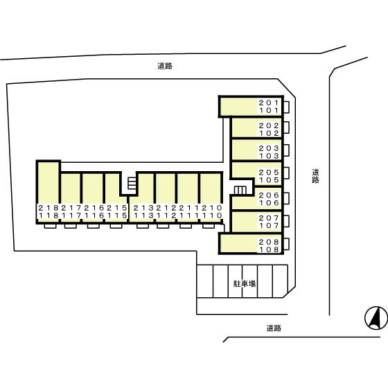 千歳烏山駅 徒歩10分配置図