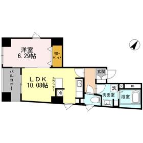 品川駅 徒歩20分4階Fの間取り画像