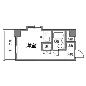 ライオンズマンション喜多見第22階Fの間取り画像