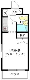 スカイコート高円寺第31階Fの間取り画像