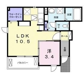 カレント成城1階Fの間取り画像