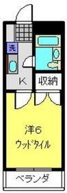 える・ぱてぃお1階Fの間取り画像