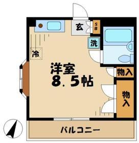 伊藤ハイツ3階Fの間取り画像