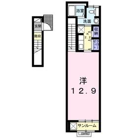 サンリット・ビラ2階Fの間取り画像