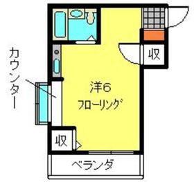 カレッジハイツ西竹之丸2階Fの間取り画像