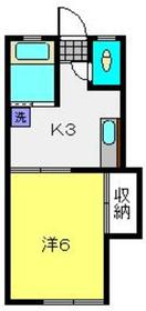 第一静明荘1階Fの間取り画像