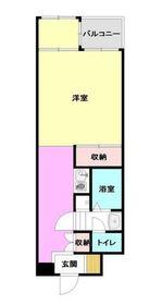 コージ―ハウス横浜南7階Fの間取り画像