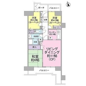 田浦駅 徒歩1分6階Fの間取り画像