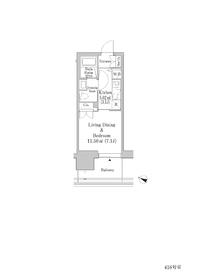 六本木グランドタワーレジデンス4階Fの間取り画像