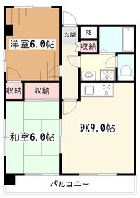NSビル3階Fの間取り画像