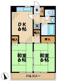 サンハイムタチバナC4階Fの間取り画像