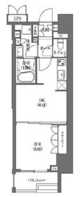 HAMACHO APARTMENTS6階Fの間取り画像