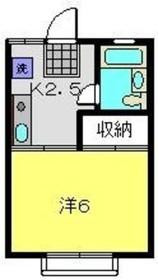 星川駅 徒歩5分2階Fの間取り画像