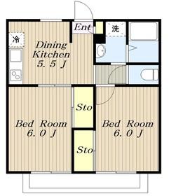 エステートMIYAZAWA Part11階Fの間取り画像