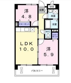 サンローレル2階Fの間取り画像