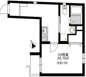 b'CASA Tanmachi2階Fの間取り画像