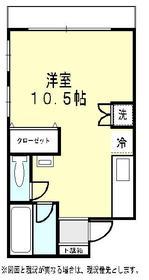 北井マンション2階Fの間取り画像