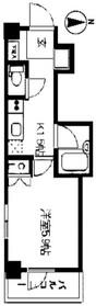 レジディア文京湯島II11階Fの間取り画像