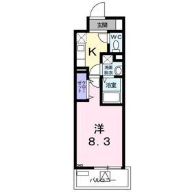 ホワイトマーベル7階Fの間取り画像