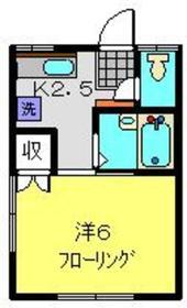 カンナハイツ片倉1階Fの間取り画像
