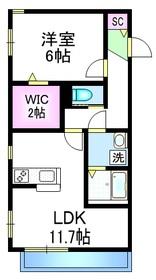メゾン シェモワⅡ1階Fの間取り画像