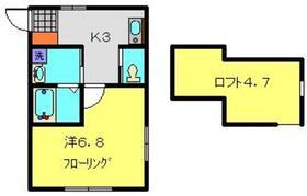 ヨコハマベイYELL²2階Fの間取り画像