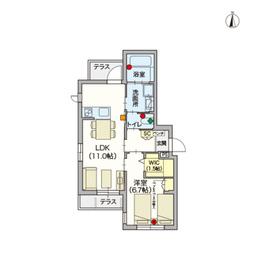 (シニア限定・ペット共生)ラ・プリマヴェーラ1階Fの間取り画像