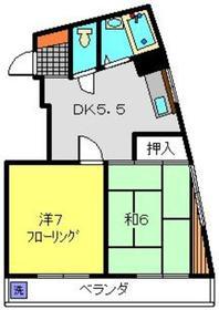 コーポミスズ2階Fの間取り画像