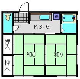 ミナト荘2階Fの間取り画像