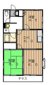 プレザンスコートⅡ1階Fの間取り画像