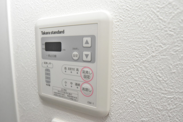 NEXT ONE 給湯リモコン付。温度調整は指1本、いつでもお好みの温度です。