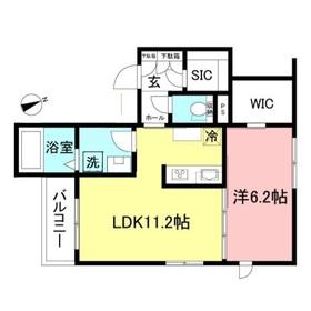 Ambicia Kitazawa1階Fの間取り画像