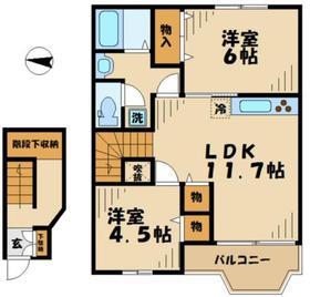 メゾンドジョイ22階Fの間取り画像