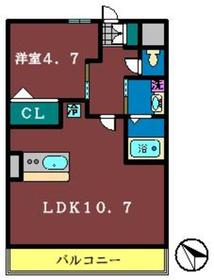 バーニーズ11階Fの間取り画像