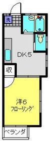 鶴見駅 バス15分「仲谷戸」徒歩2分2階Fの間取り画像