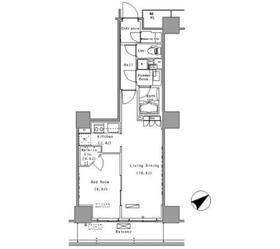 パークアクシス豊洲14階Fの間取り画像