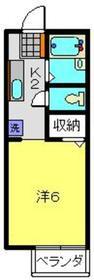 エクセルグリーンベル1階Fの間取り画像