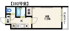 パークセブン新宿1階Fの間取り画像