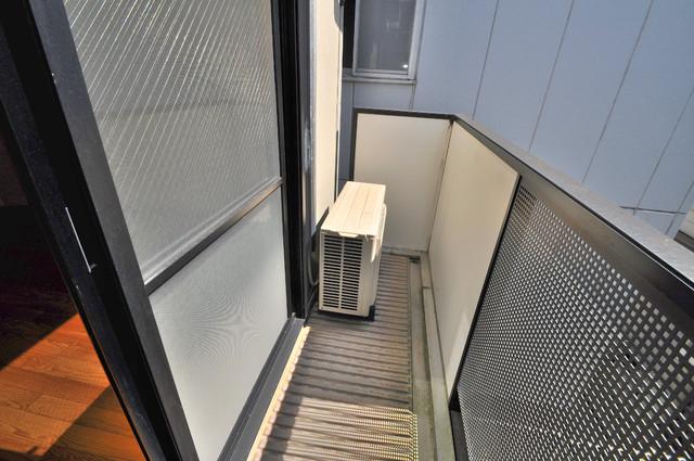 ブリエール布施A棟 バルコニーは陽当たりが良く、洗濯物も気持ち良く乾きます。