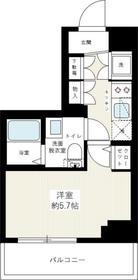 イアース横濱赤門町6階Fの間取り画像