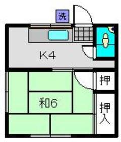 ハウスエンドウ2階Fの間取り画像