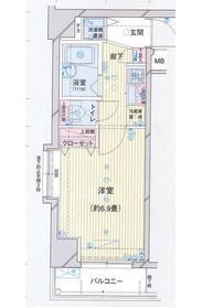 プレール・ドゥーク水天宮Ⅱ6階Fの間取り画像