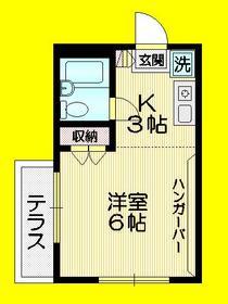 マイン武蔵野1階Fの間取り画像